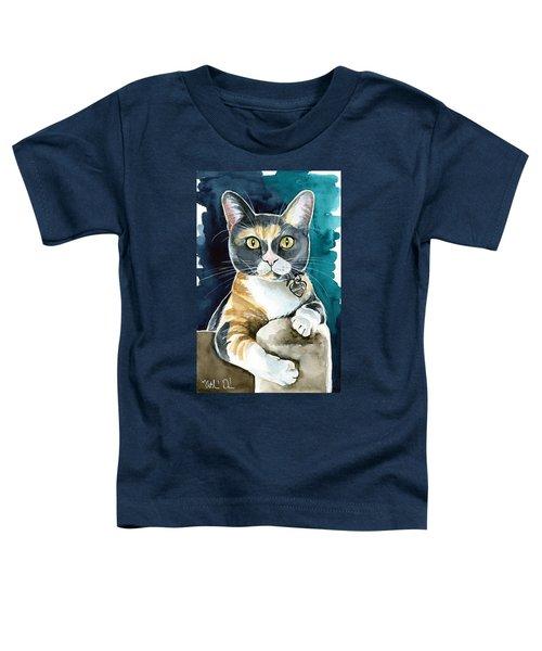 Sassy - Calico Cat Painting Toddler T-Shirt