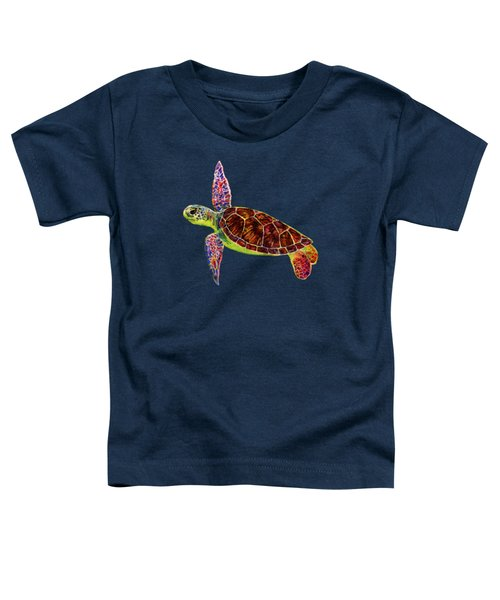 Sea Turtle Toddler T-Shirt by Hailey E Herrera