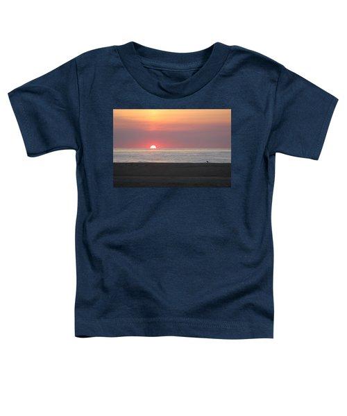 Seagull Watching Sunrise Toddler T-Shirt