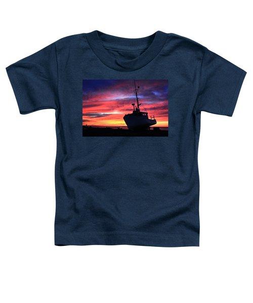 Silhouette Sunset Toddler T-Shirt