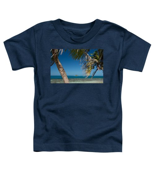 Silk Caye Island With Palm Trees Toddler T-Shirt