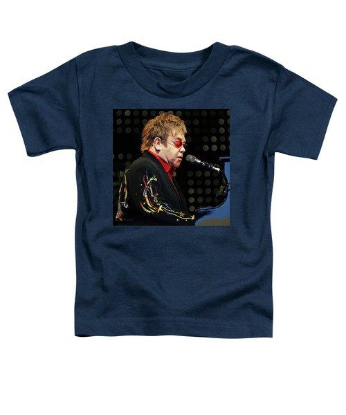 Sir Elton John At The Piano Toddler T-Shirt