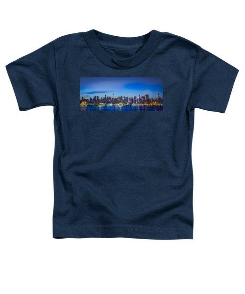 Skyline Nyc Before Sunrise Toddler T-Shirt
