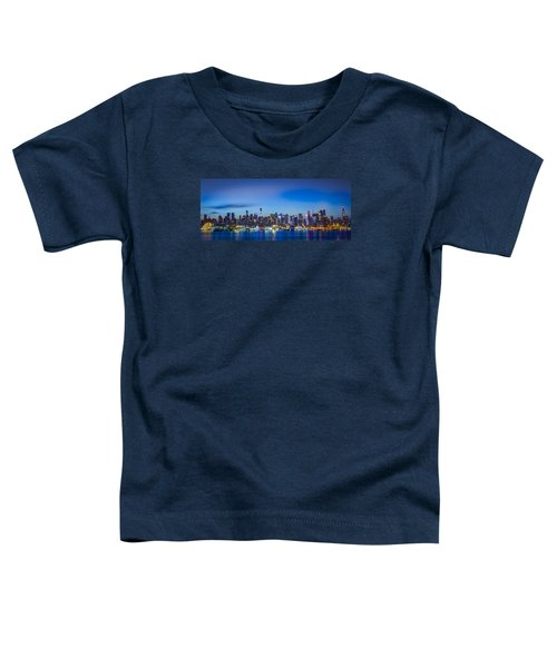 Skyline Nyc Before Sunrise Toddler T-Shirt