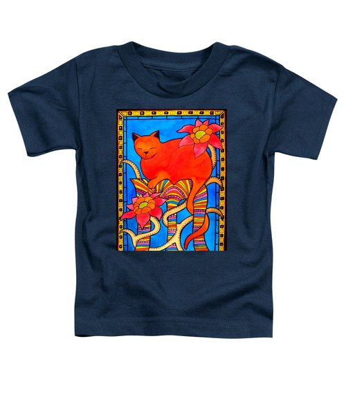 Toddler T-Shirt featuring the painting Sleeping Beauty By Dora Hathazi Mendes by Dora Hathazi Mendes