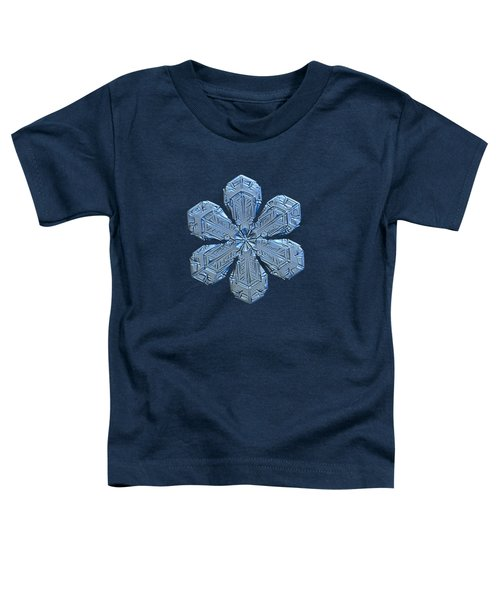 Snowflake Photo - Forget-me-not Toddler T-Shirt