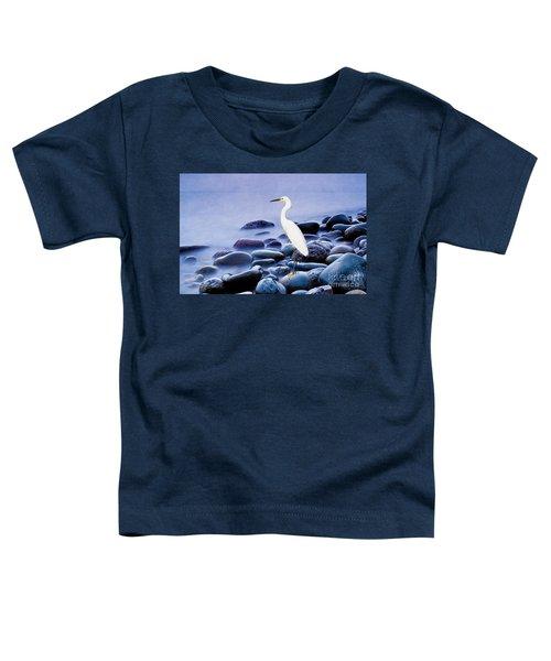 Snowy Egret On The Rocks Toddler T-Shirt