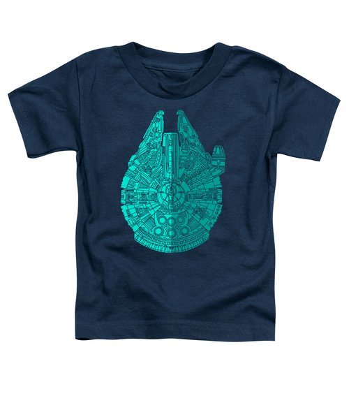 Star Wars Art - Millennium Falcon - Blue 02 Toddler T-Shirt