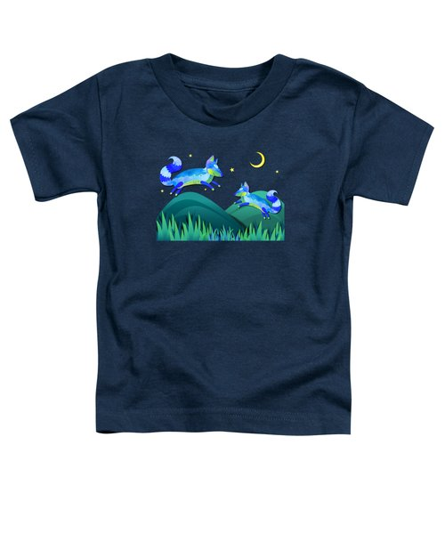 Starlit Foxes Toddler T-Shirt by Little Bunny Sunshine