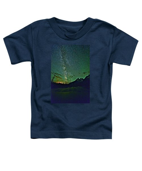 Starry Night Over The Tetons Toddler T-Shirt