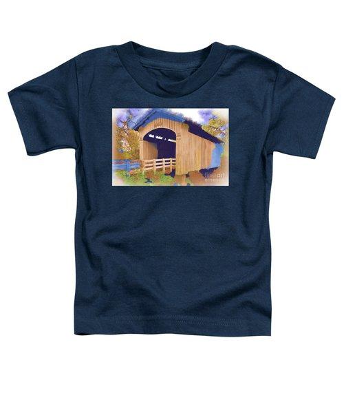 Stewart Bridge In Watercolor Toddler T-Shirt