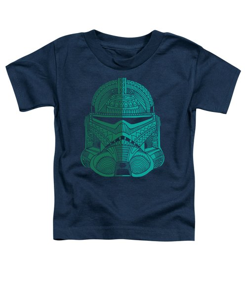 Stormtrooper Helmet - Star Wars Art - Blue Green Toddler T-Shirt