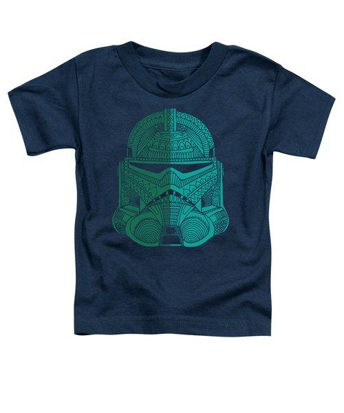 Stormtrooper Helmet - Star Wars Art - Blue Green Toddler T-Shirt