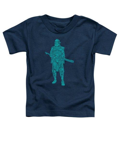 Stormtrooper Samurai - Star Wars Art - Blue 03 Toddler T-Shirt