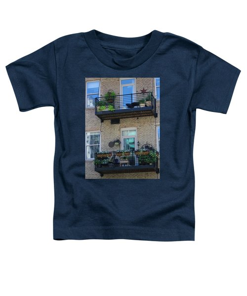 Summer Balconies In Chicago Illinois Toddler T-Shirt