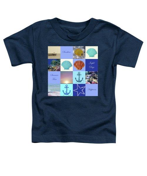 Summer Beach House Collage Toddler T-Shirt