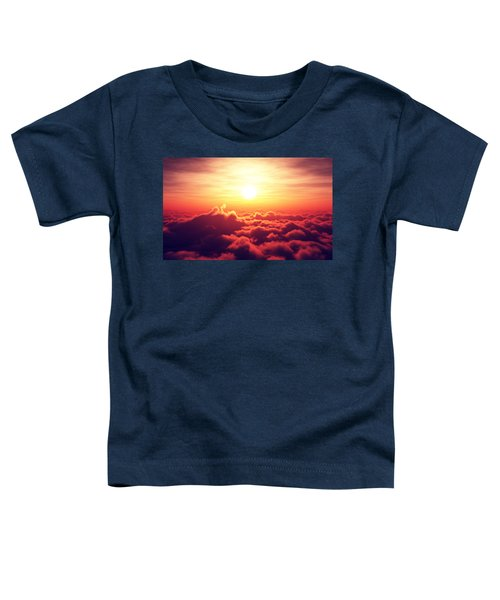 Sunrise Above The Clouds Toddler T-Shirt