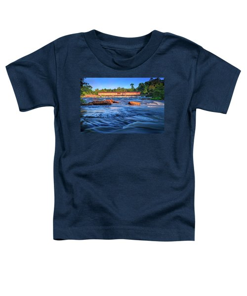 Sunrise On Watson Mill Bridge Toddler T-Shirt