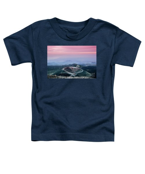Sunset From The Top Of The Etna Toddler T-Shirt