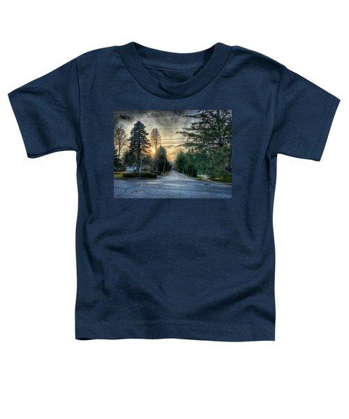 Sunset On Hilltop Drive Toddler T-Shirt