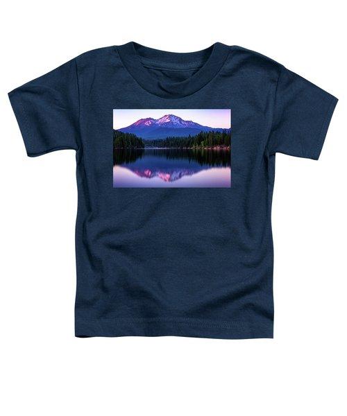 Sunset Reflection On Lake Siskiyou Of Mount Shasta Toddler T-Shirt