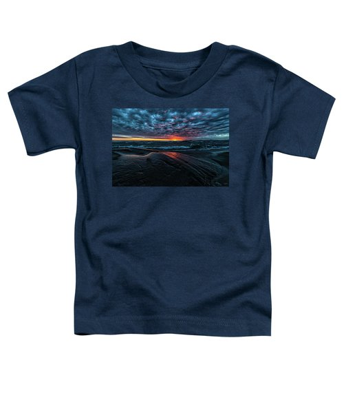 Toddler T-Shirt featuring the photograph Sunset Surf by Doug Gibbons