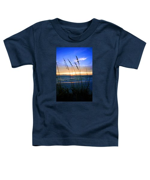 Sunset Thru The Sea Oats At Delnor Wiggins Toddler T-Shirt