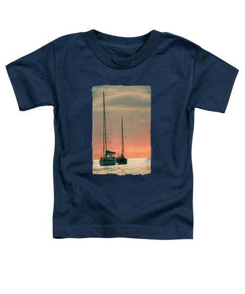 Sunset Yachts Toddler T-Shirt by Konstantin Sevostyanov