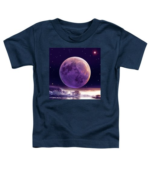 Super Cold Moon Over December Toddler T-Shirt