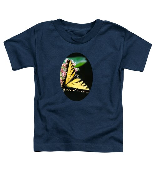 Swallowtail Butterfly And Milkweed Flowers Toddler T-Shirt by Christina Rollo