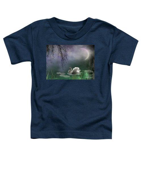 Swan By Moonlight Toddler T-Shirt