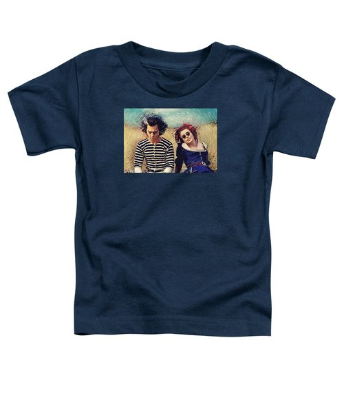 Sweeney Todd And Mrs. Lovett Toddler T-Shirt by Taylan Apukovska