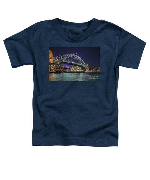 Sydney Harbor Bridge At Night Toddler T-Shirt