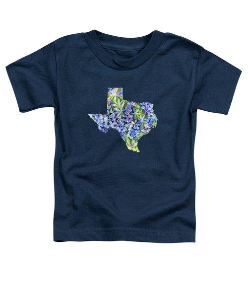 Texas Blue Texas Map On White Toddler T-Shirt