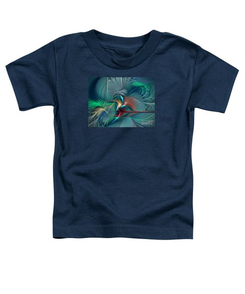 The Center Of Longing-abstract Art Toddler T-Shirt