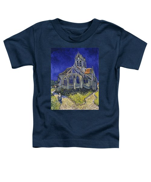 Toddler T-Shirt featuring the painting The Church At Auvers by Van Gogh
