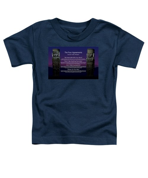The Four Agreements Poster Toddler T-Shirt