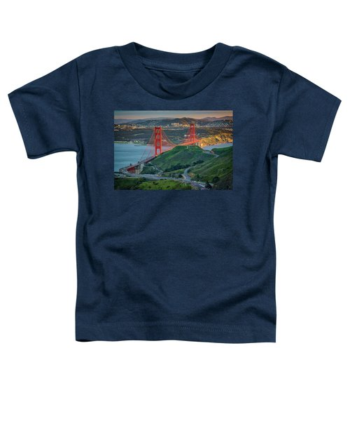 The Golden Gate At Sunset Toddler T-Shirt