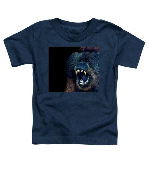 The Laughing Orangutan Toddler T-Shirt by Martin Newman