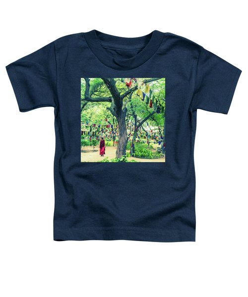 The Monk Among The Prayer Flags Toddler T-Shirt