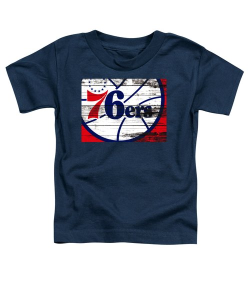 The Philadelphia 76ers 3e       Toddler T-Shirt by Brian Reaves