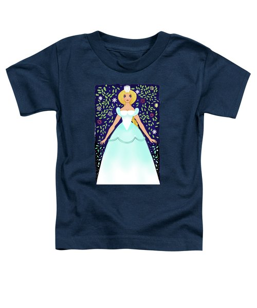 The Winter Fairy Brings The First Frost  Toddler T-Shirt by Little Bunny Sunshine