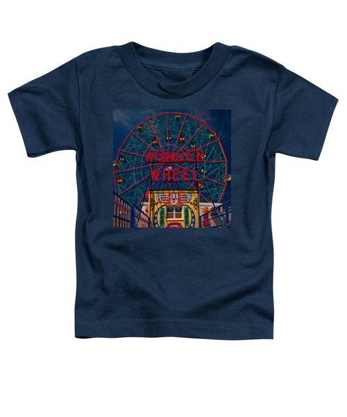 The Wonder Wheel At Luna Park Toddler T-Shirt