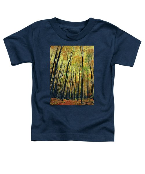 Toddler T-Shirt featuring the photograph The Woods In The North by Michelle Calkins