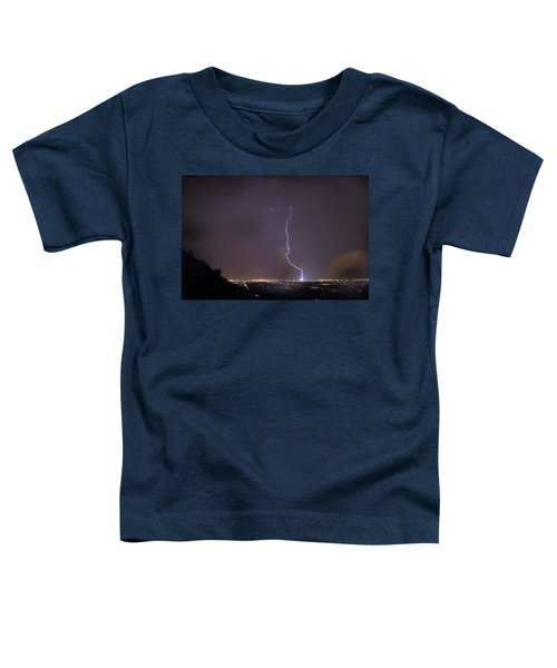 Toddler T-Shirt featuring the photograph It's A Hit Transformer Lightning Strike by James BO Insogna