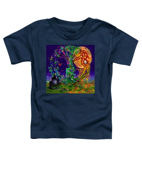 Tree Of Life With Owl And Dragon Toddler T-Shirt