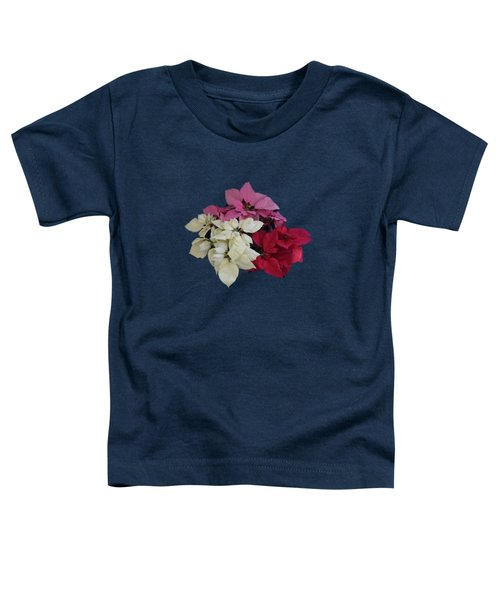 Tricolor Poinsettias Transparent Background   Toddler T-Shirt
