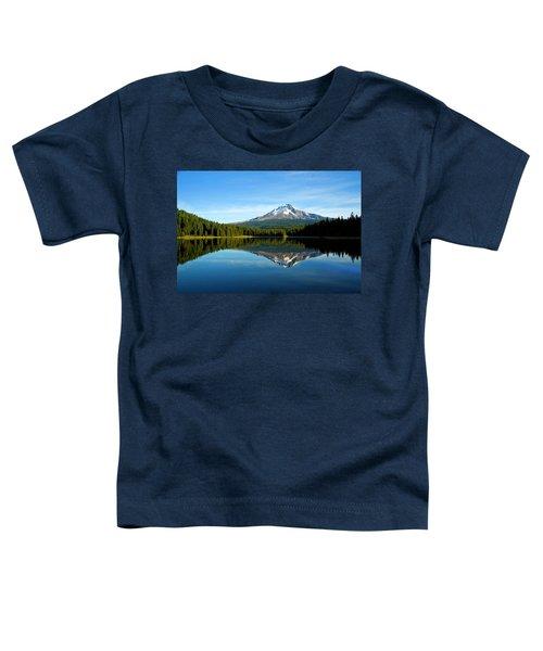 Trillium Lake Mt Hood Fall Toddler T-Shirt