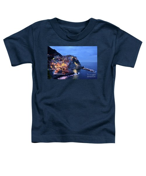 Tuscany Like Amalfi Cinque Terre Evening Lights Toddler T-Shirt