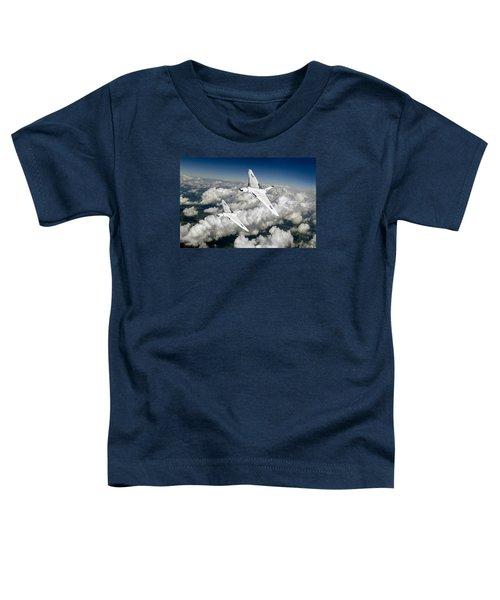 Two Avro Vulcan B1 Nuclear Bombers Toddler T-Shirt by Gary Eason